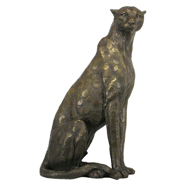 Bronze Cheetah Sitting