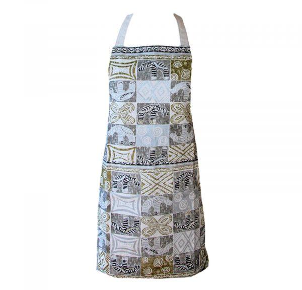 Zebra Tea Towels: Block Print Elephant