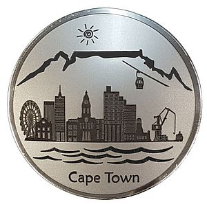 Fridge Magnet of the Cape Town Skyline