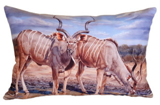 African designer cushion covers Antelope