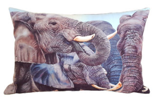 African designer cushion covers Elephants