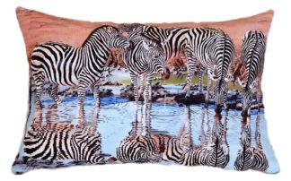 African designer cushion covers Zebra